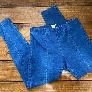 H&M denim leggings w/seams